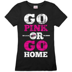 Go Pink or Go Home Tee Black ($29) ❤ liked on Polyvore featuring tops, t-shirts, shirts, blusas, pink, pink tee, pink top, pink t shirt, pink shirts and tee-shirt