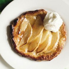 Individual tartes fines aux pommes -- a down-under recipe -- can make ahead and finish up in the oven at last minute