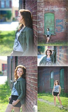 Edgy urban senior pictures in Findlay Ohio by Britt Lanicek Photography | downtown senior pictures | grunge senior pictures | www.brittlanicekphotography.com