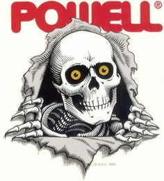 Skateboard Logos Pics Archive: Powell Skateboards Skull Logo