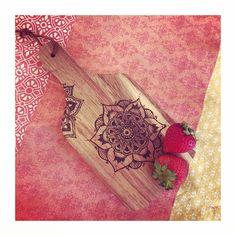 It's the little things   pyrography wood burning mandala art on mini wooden serving board