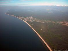 Miedzyzdroje, Polish Baltic sea coast Baltic Sea, Amazing Places, Poland, Airplane View, The Good Place, Coast, River, Landscape, History