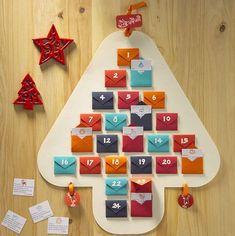 Christmas Tree Advent Calendar, Diy Advent Calendar, Christmas Mood, Noel Christmas, Holiday Fun, Advent Calenders, Navidad Diy, Theme Noel, Xmas Crafts