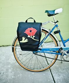 Pannier Bike Bag - 'Poppy'