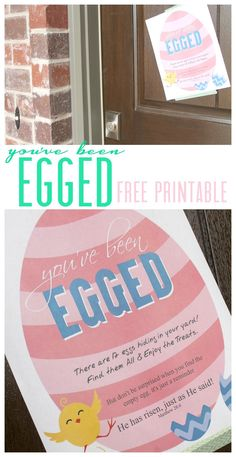 You've been egged free printable! Easter Printables to Celebrate Easter! You've been egged free printable! Easter Printables to Celebrate Easter! Easter Party, Easter Gift, Easter Decor, Easter Centerpiece, Easter Brunch, Hoppy Easter, Easter Eggs, Easter Table, Holiday Crafts