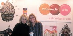 WallCandy founder Allison Krongard with Joan Rivers at the New York International Gift Fair