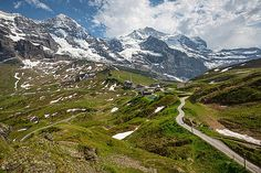 Kleine Scheidegg Switzerland. #Kleine #Scheidegg #Switzerland #landscape #canvas #print #snow