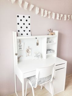 a peg board for the girls' room | desk areas, school starts and desks
