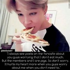 JIMIN DID A 30 MINS. BROADCAST OF HIM EATING JUST CAUSE HE DONT WANT FANS TO…