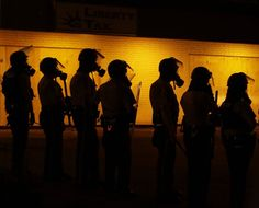 Federal Govt Will No Longer Give Local Police Certain Military-Grade Equipment By Carimah Townes 5/18/15 --- The decision comes 9 months after protestors in Ferguson were met with tanks, advanced weaponry and ammunition, and local officers decked out in full military garb. Clashes btwn Ferguson residents and law enforcement drew international attention — and scrutiny from repressive regimes — for their resemblance to violent clashes in war-torn countries. But Ferguson wasn't the first place…