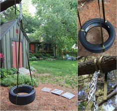 DIY Tire Swing   -- Follow DIY Fun Ideas on facebook: https://www.facebook.com/DIYFunIdeas
