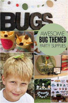 Unique Bug Themed Birthday Supplies - Spaceships and Laser Beams
