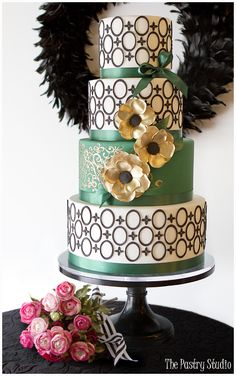 Emerald Green Pantone Color of the Year-Wedding Cakes. Cake Design byThe Pastry Studio