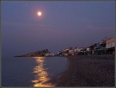 Full moon atKokari, Samos