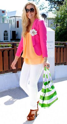 love the colors Kate Spade Bag, Casual Elegance, Winter Wear, Summer Looks, Color Combos, Color Pop, Spring Summer Fashion, Spring Style, Dress Me Up