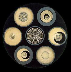 Disks Bearing Spirals, Pencil by Marcel Duchamp (1887-1968, France)
