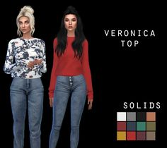 Veronica Top at Leo Sims • Sims 4 Updates