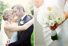 Another look at her elegant updo. (And bonus, pretty bouquet!)