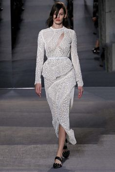 Proenza Schouler A/W 2013. Click to see more bridal inspiration from the runway.
