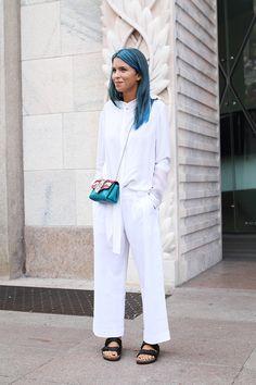 Carola Bernard Milan Fashion Week Street Style ss15 photo by Claudia Bellotti for Tessabit