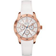 Nautica Women's White Silicone Strap Watch 38mm N18696M $185