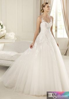 I like this - Elegant Tulle Bateau Ball Gown Lace Wedding Dress. Do you think I should buy it?