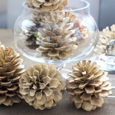 How to make bleached pine cones #make