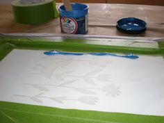 One Golden Apple: simple silk screening with kids (or not)