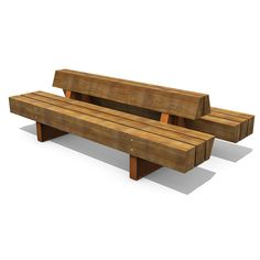 STREETLIFE Heavy-Heavy benches. Massive, heavy-duty benches with a remarkable natural look. The Heavy-Heavy benches are available in single and double seating, with or without backrest #StreetFurniture #ParkBench #Extendable #NaturalLook