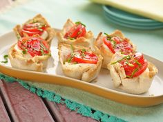 Caprese Tartlets recipe from Melissa d'Arabian via Food Network