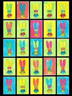 Simon Superlapin déguisé en Pop-Art Lapin Art, Pop Art, Ecole Art, Art Plastique, Super Heros, Logos, School, Ps, Albums