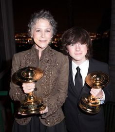 Melissa McBride and Chandler Riggs attend the 40th Annual Saturn Awards - Show on June 26, 2014 in Burbank, California