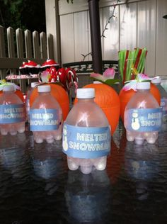 Melted Snowman Water For Christmas In July Party