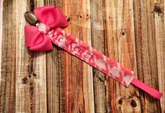 Pacifier clip #pacifierclip #clip #embroidery #personalized #handmade #katiesbowsgalore www.facebook.com/katiesbowsgalore ladiekatie985@gmail.com