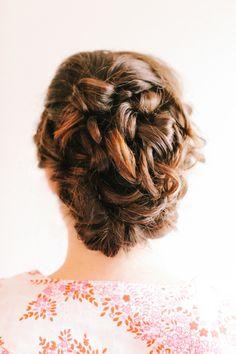 Romantic braided updo
