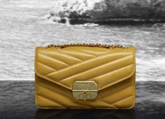 Chanel quilted calfskin flap bag with mini Mademoiselle closure (Cruise Bags Online Shopping, Online Bags, Shopping Bag, Yellow Purses, Chanel Cruise, Stylish Handbags, Chanel Handbags, Women's Handbags, Handbag Accessories