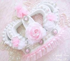Shabby Chic Pink Princess Crown  Girls Room Wall Decor or Bed Crown Nursery Baby Girl Photo Prop Baby Shower Gift Custom Colors Available on Etsy, $50.00