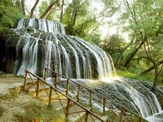 Rolling Waterfall Monasterio de Piedra Zaragoza Province Spain. Most peaceful place in the world!