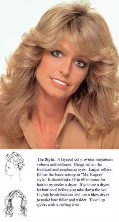The 'Farrah' cut.the official hairstyle of the - still fantastic Official Hairstyle, Historical Hairstyles, 70s Hair, Hair Icon, Cheryl Ladd, Farrah Fawcett, Female Actresses, Moda Fashion, Vintage Hairstyles