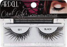 509e5c45628 Ardell Corset Lashes 501 lashes feature unique criss-cross lash styles  similar to corset lacing