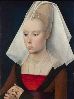 """Portrait of a lady"" by Rogier van der Weyden, 1460. Workshop of Rogier van der Weyden (1399-1464). National Gallery, London"