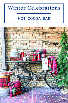 Create a warm and inviting holiday hot cocoa bar with inspiration and tips from Everyday Party Magazine #HotCocoaBar #TheTravelingTapFL #SipAndBeSocial #WinterEntertaining