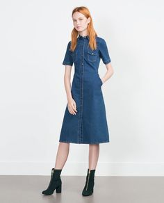 ZARA - TRF - DENIM DRESS
