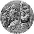 This beautiful coin portraitsSaladin - Righteousness of the Faith, was the Sultan of Egypt and one of the most famous Muslim heroes. Saladin's greatest triumph over the European Crusaders came at the Battle of Hattin in 1187, which paved the way for Isla..Price: US $318.37