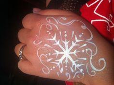 Snowflake face paint design - Frozen!