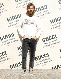 Gucci trends & Inspiration : Attending the Gucci Spring Summer 2018 fashion show, the stars…          Attending the Gucci Spring Summer 2018 fashion show, the stars of the Gucci Cruise 2018 campaign Roman Rhapsody including the photographer Mick Rock . Alessandro Borghi, Mick Rock,... - #Gucci https://youfashion.net/brands/gucci/gucci-attending-the-gucci-spring-summer-2018-fashion-show-the-stars-2/