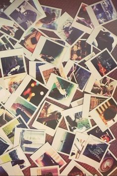 get one of those cameras and just have a bunch of stupid pictures laying around because cliche and nostalgia