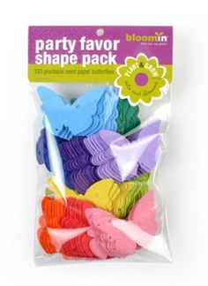 Check out this Party Favor Butterfly Shape Pack made with Seed Paper!