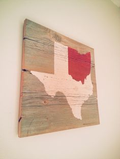Ohio State / Texas State Mashup Custom Any States by RusstyBucket, $35.00 So perfect for Ryan and I :)
