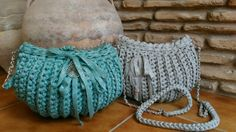 Bolsos de trapillo by Crochet o ganchillo